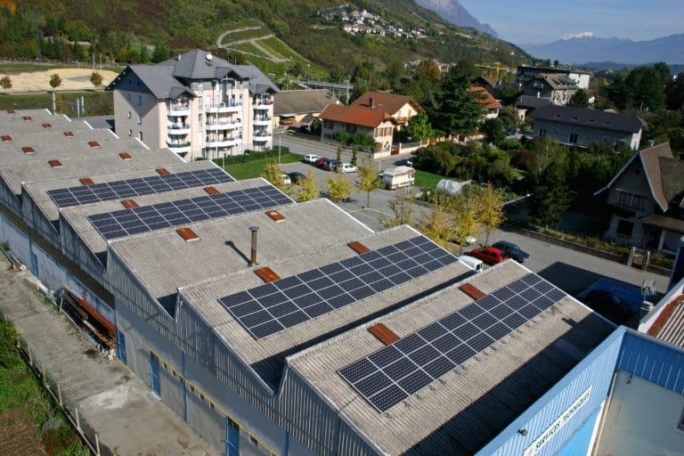 Ateliers municipaux de Montmélian, toiture photovoltaique, Apex Energies