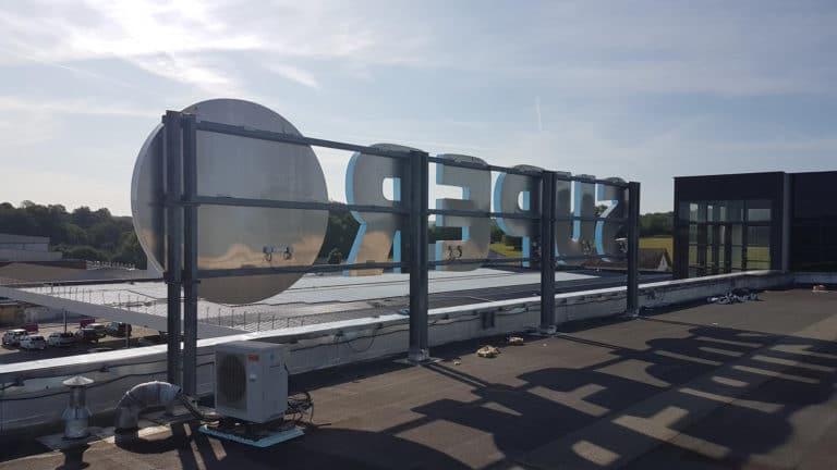 Ombrière photovoltaïque Super U Saint-Vit