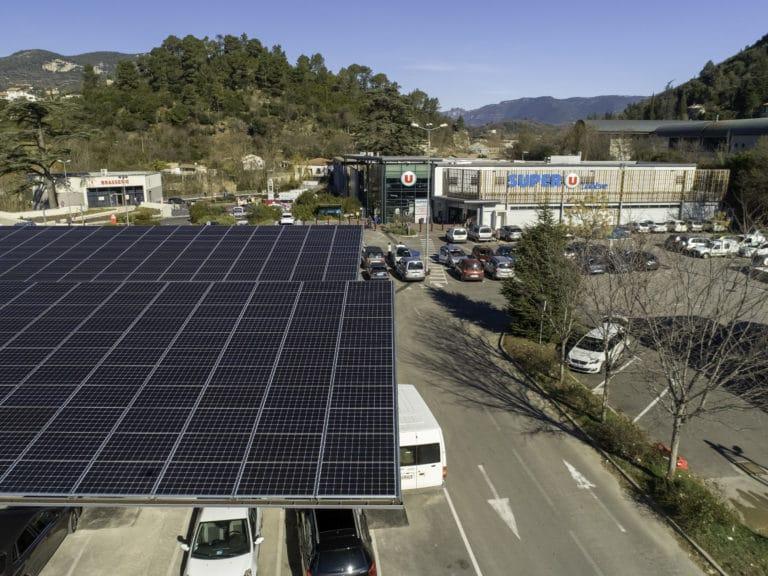Ombrière photovoltaïque Super U Lodève