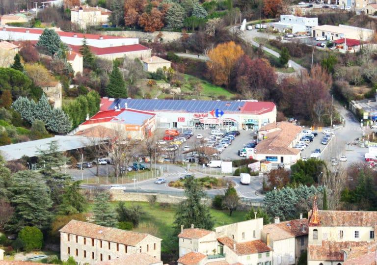 Carrefour Levans toiture photovoltaique
