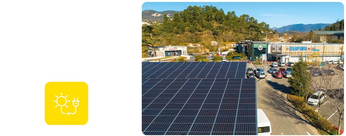 Ombrières photovoltaïques SUPER U