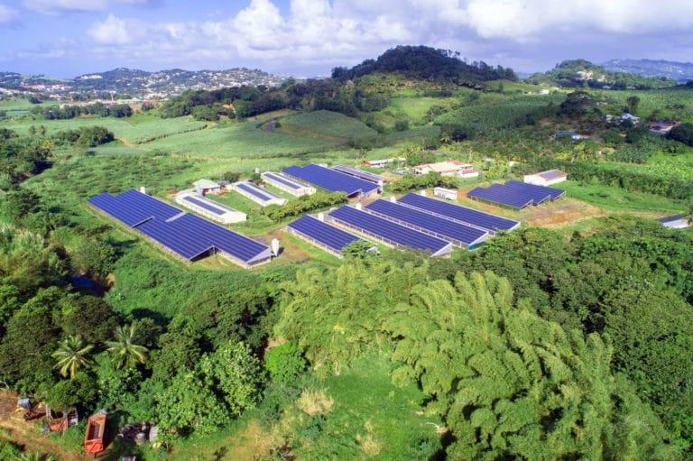Hangars photovoltaiques Segur en Martinique - Apex Energies