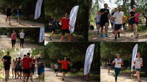 L'équipe d'Apex Energies qui court pour le trail